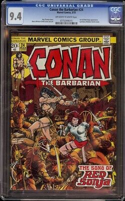 Conan # 24 CGC 9.4 OW/W (Marvel, 1973) 1st appearance of Red Sonja