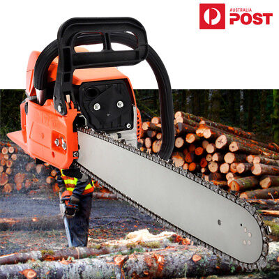 """PDTO NEW 52cc Petrol Commercial Chainsaw 20"""" Bar E-Start Chain Saw Pruning New"""