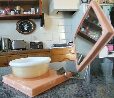 Vintage Portable Shaving Bowl & Mirror