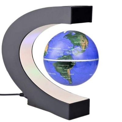 1 PCS Antigravity Plastic Magnetic Globe Metal Gift Light Levitation World Map