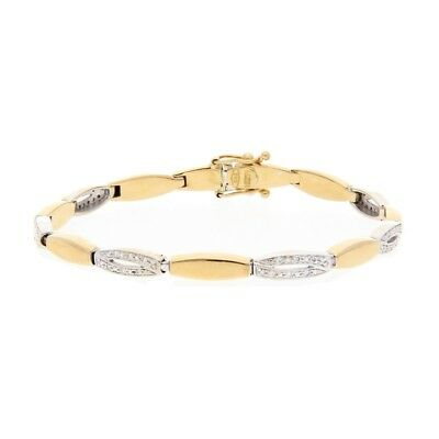 Diamant Armband 0,40 ct 750 Bicolor Gold 18 Karat Brillant Damen Schmuck A02.318