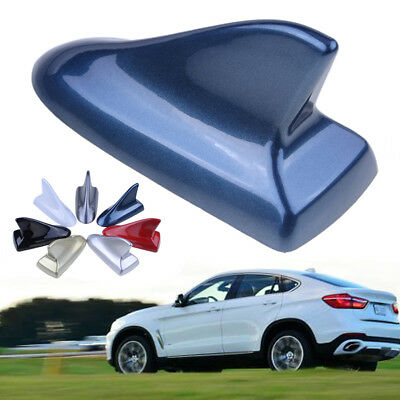 New Auto Car Shark Fin Universal Roof Antenna Decorate Dummy Aerial Blue