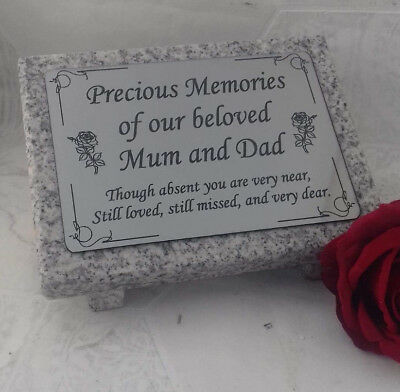 Personalised Grey Granite not Marble Engraved Memorial Grave Plaque Stone Mum