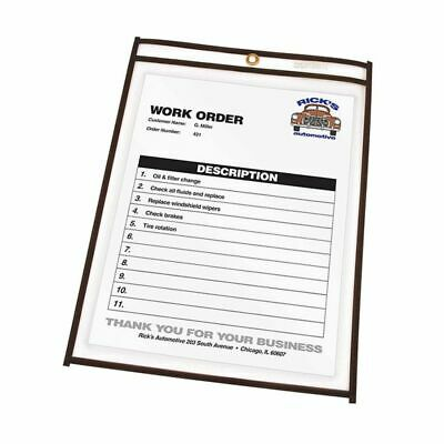 """C-Line® Stitched Vinyl Shop Ticket Holders, 9"""" x 12"""", Clear, Box Of 25"""