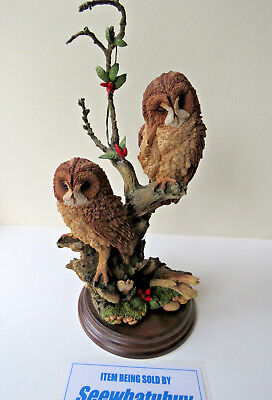 """COUNTRY ARTISTS """" Summer Dream"""" TAWNY OWL FAMILY FIGURAL GROUP (CA 694)"""