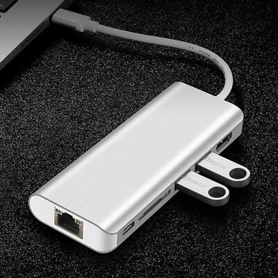 Type-C USB Multiport Adapter USB-C to HDMI HD Hub 2-Port TF Card Reader Cable BN