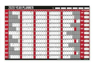 2019 Year Laminated Wall Planner Holiday Planner With Pen & Stickers Office Home