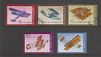 Russia 1974 Airplanes Canceled to order set 5 stamps