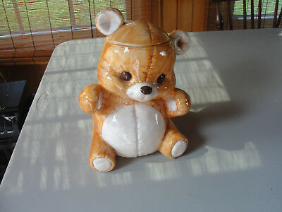 Treasure Craft Seated Beige Bear Cookie Jar