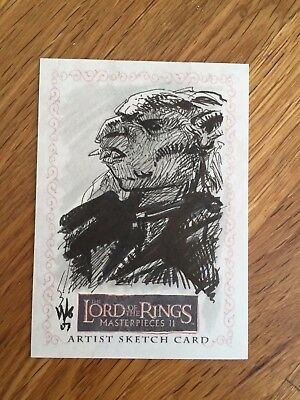 Topps The Lord of the Rings 1/1 Sketch Card Orc by Wayne Lo