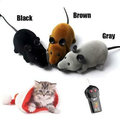 Remote Control RC Rat Mouse Wireless For Cat Dogs Pet Funny Toys Novelty Gift WT