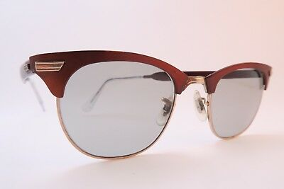 Vintage 50s sunglasses white gold filled 1-10 12K red made in the USA SUPERB ***