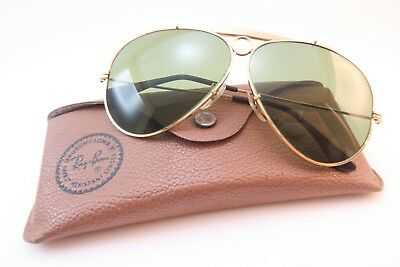 Vintage B&L Ray Ban Shooter sunglasses size 62-14 etched lens made in the USA