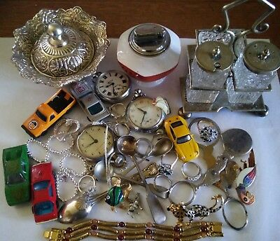 JOB LOT OF MIXED COLLECTABLES.DRAW FIND-INCL-Vintage Cars Pocket Watches etc £1