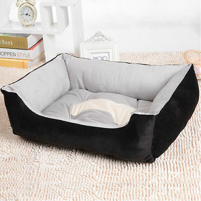 New Soft Pet Cat Dog Basket Bed Waterproof Washable Deluxe Fleece Warm Large