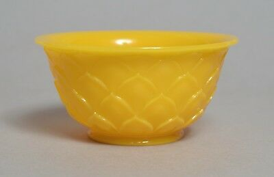 A Beautiful Quality Antique Chinese Carved Yellow Peking Glass Bowl #1