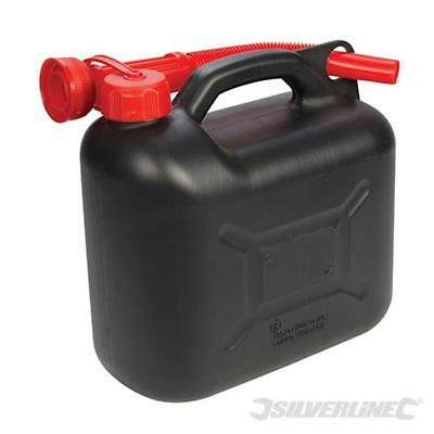 Tanica in plastica per carburante 5 l  Silverline Nero