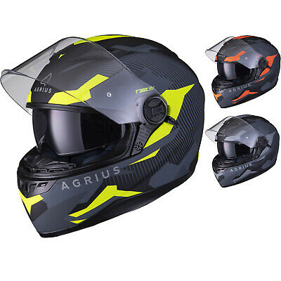 Agrius Rage SV Tracker Full Face Motorcycle Matt Helmet bike Road Bike Scooter