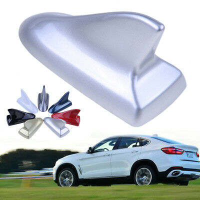 Silver Car Auto Roof Top Mount Shark Fin Decorate Antenna Aerial for Universal
