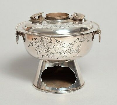 A Beautiful Quality Antique Chinese Silver Incense Burner Censer, Signed