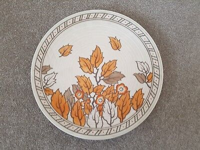 CHARLOTTE RHEAD Crown Ducal Golden Leaves Pattern 4921 Wall Plate c.1930's