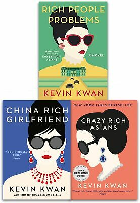 Kevin Kwan Crazy Rich Asians Trilogy Collection 3 Books Set Rich People Problems