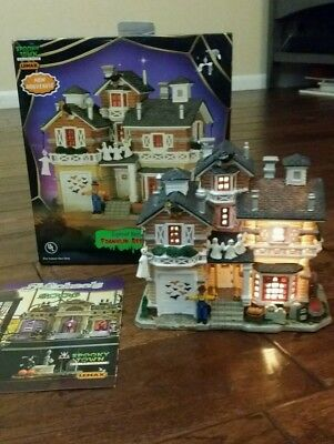 Lemax Spooky Town Franklin Residence Lighted Building Halloween Decor From 2004