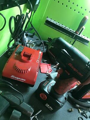 "Snap On 14.4v 3/8"" Drive Cordless Impact With Charger And Battery"