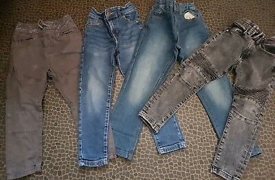 4 Pairs Trousers - 3 Jeans, 1 Cargo Pants, Boy, Age 4-5 Years, Tu, M&s, Bargain!