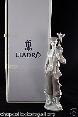 """Lladro Retired Figurine #5301 """"Waiting To Tee Off"""" - Mint In Box"""