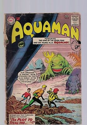 DC Comics Aquaman # 8 April 1963 12c USA Aquaman & Aqualad visit an alien world