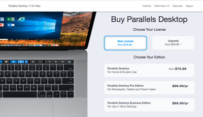 Parallels Desktop 14 for Mac Pro Edition 3 month subscription | Instant Delivery