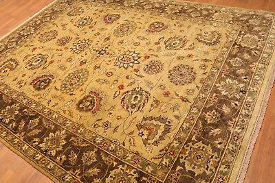 "7'10""x9'10"" Hand Knotted 150 Kpsi Tea Wash 100% Wool Persian Oriental Area Rug"