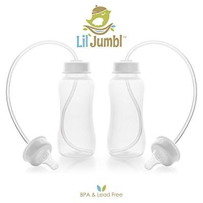 Lil' Jumbl Hands-Free Baby Bottle Feeding System, 10 oz - 4 Pack