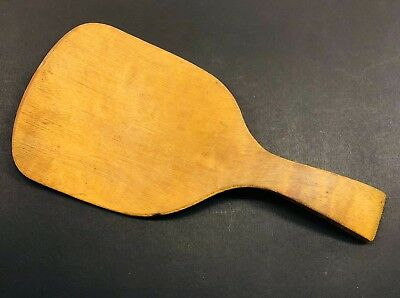 Vintage WOODEN BUTTER PADDLE SCOOP SPOON Pine  - Treen