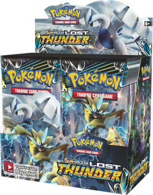 Lost Thunder 18 Booster Pack Lot 1/2 Booster Box Pokemon TCG Sun & Moon