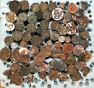 70+ Mixed Pole & Railroad Date Nails 1923-1942 Copper & Steel