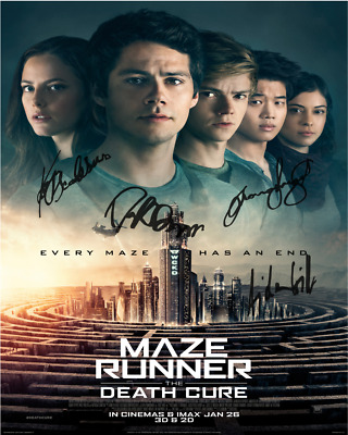 Maze Runner 3 Dylan O'Brien Cast SIGNED AUTOGRAPHED 8x10 REPRO PHOTO PRINT