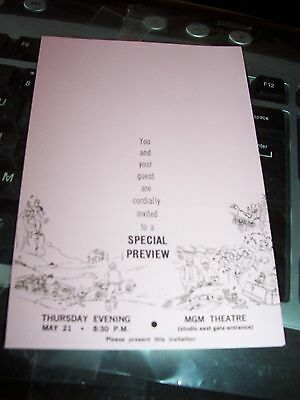Elvis Presley Awesome Preview Pink Invitation Card To Viva Las Vegas At Mgm