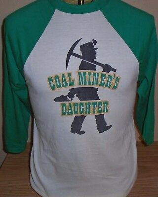 Vintage 1982-83 Loretta Lynn Coal Miner's Daughter concert tour t shirt Large