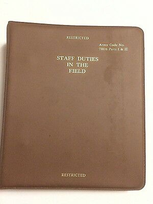 Rare Cold War British Army Staff Duties In The Field Pt1 & 2 Dated 1977 Amended