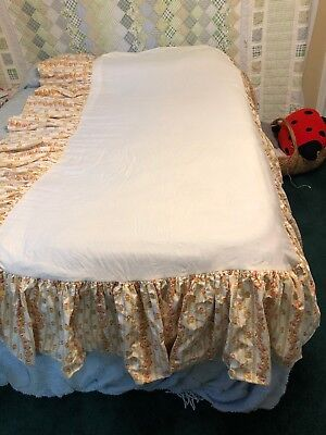 Two Vintage Twin Bed Skirts Dust Ruffles Custom Made