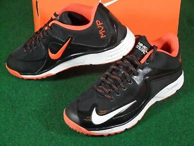 separation shoes 195c8 e9908 Nike Lunar MVP Pregame 2 Turf Baseball Training Shoes Cleats Black Orange  10.5