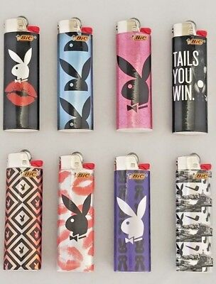 Bic Holographic Playboy Lighters - 8 Pack