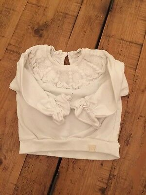 river island 12-18 months girls Lace And Frill Sleeve Jumper