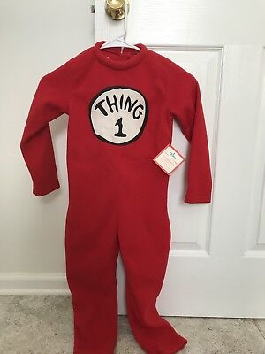 Pottery Barn Kids Dr Seuss Thing 1 Costume Sz 4-6
