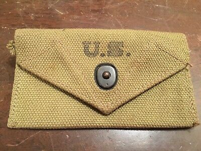 Authentic WW2 US Army Medical Kit Web Pouch Field Gear