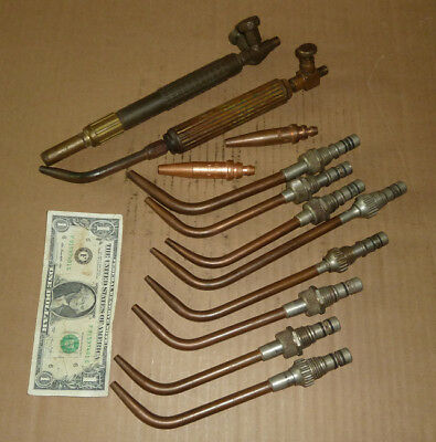 Vintage Batch Welding,Soldering Tips,Torch Handles,Controls,Tools as Pictured
