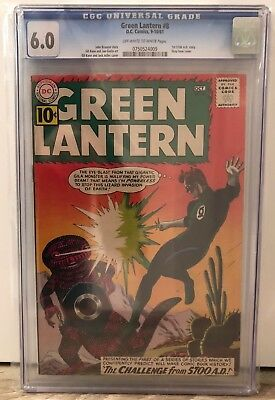 Green Lantern #8 - Cgc 6.0 - 1St 5700 Ad Story - Off White To White Pages