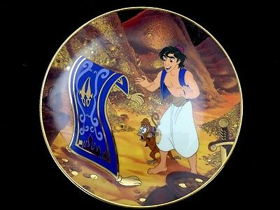 Disney Aladdin Traveling Companions Bradford Exchange Collector Plate 7-5/8""